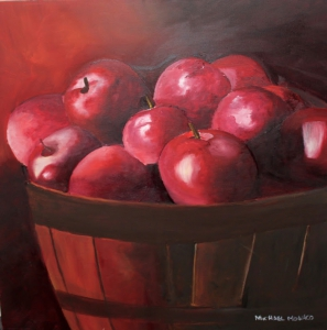 Apples 24 x 24 Basket Full of Apples- $350.00