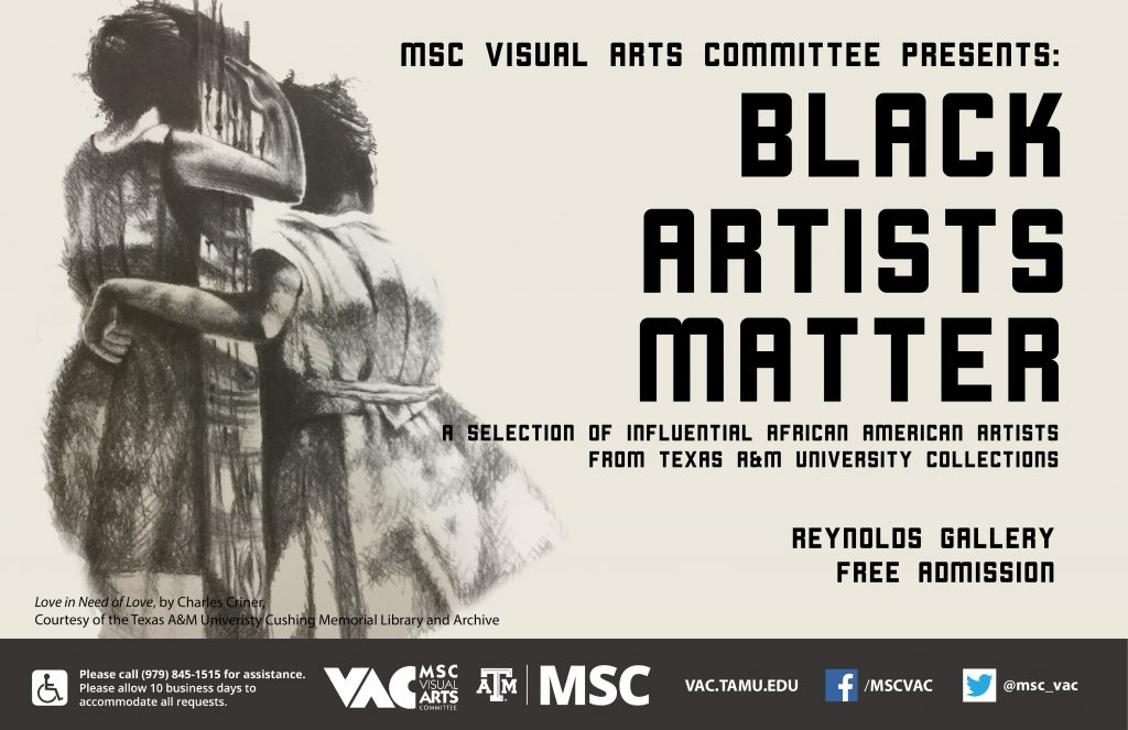 Black Artists Matter Announcement graphic