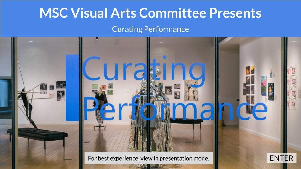 Curating Performance entry